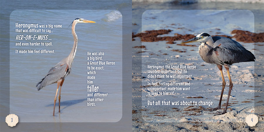 Hero the Heron Book pages 3-4